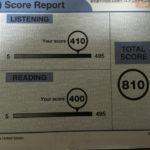 約1ヶ月の勉強でTOEICスコア800点を超えました。